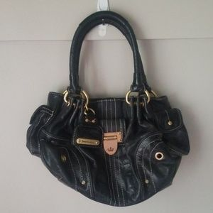 Juicy couture leather shoulder satchel hobo purse